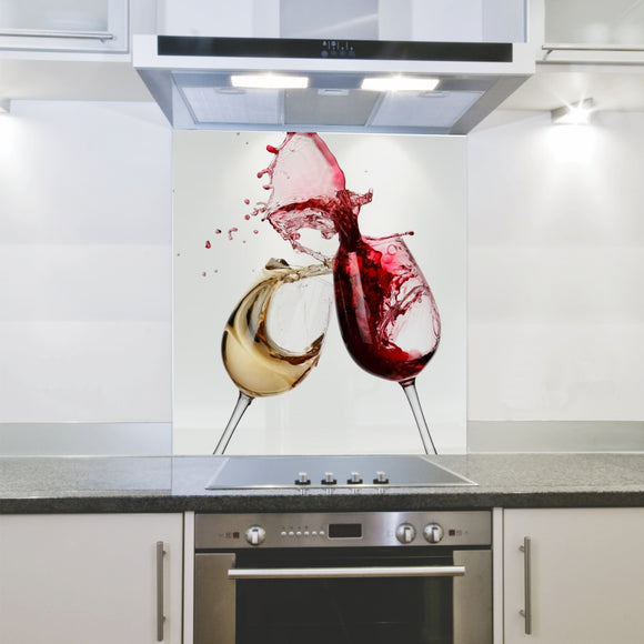 Splashback 898x 700x 4mm Wine Glasses Hob