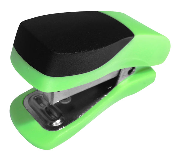 Stapler Plastic Mini Green Single