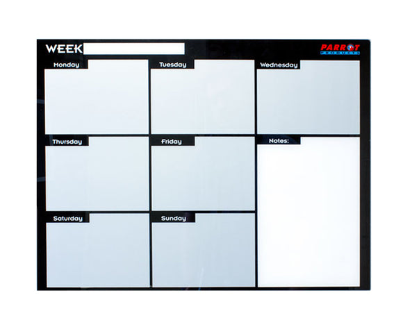 Weekly Planner Cast Acrylic 600 X 450mm