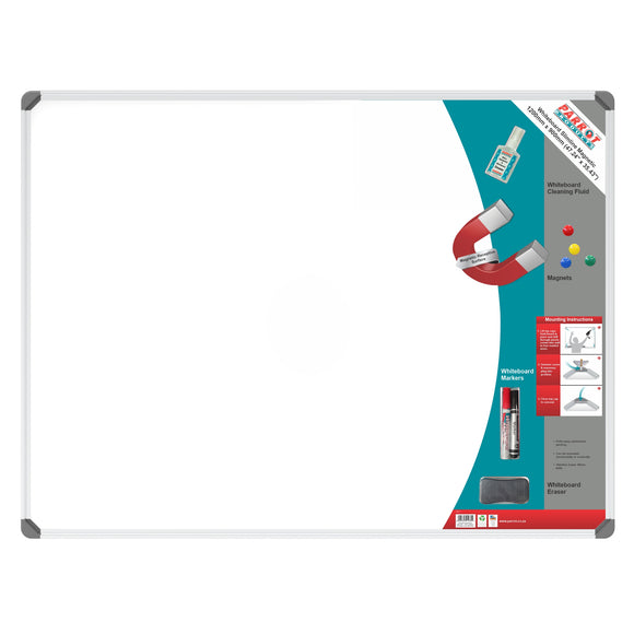 Parrot Whiteboard Slimline Magnetic 1200x900mm Retail