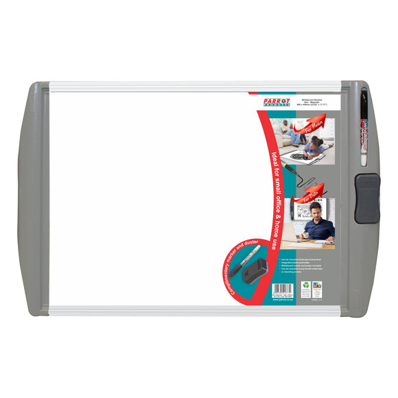 Parrot Whiteboard Slimline Non Magnetic 600x450mm Retail