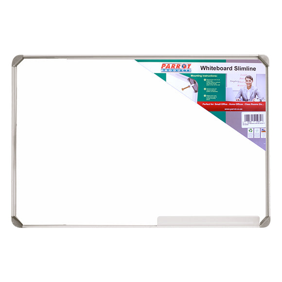 Parrot Whiteboard Slimline Non Magnetic 900x600mm