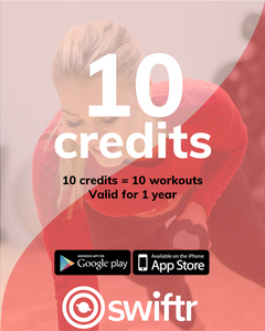 10 Credits - 10 workouts with Swiftr