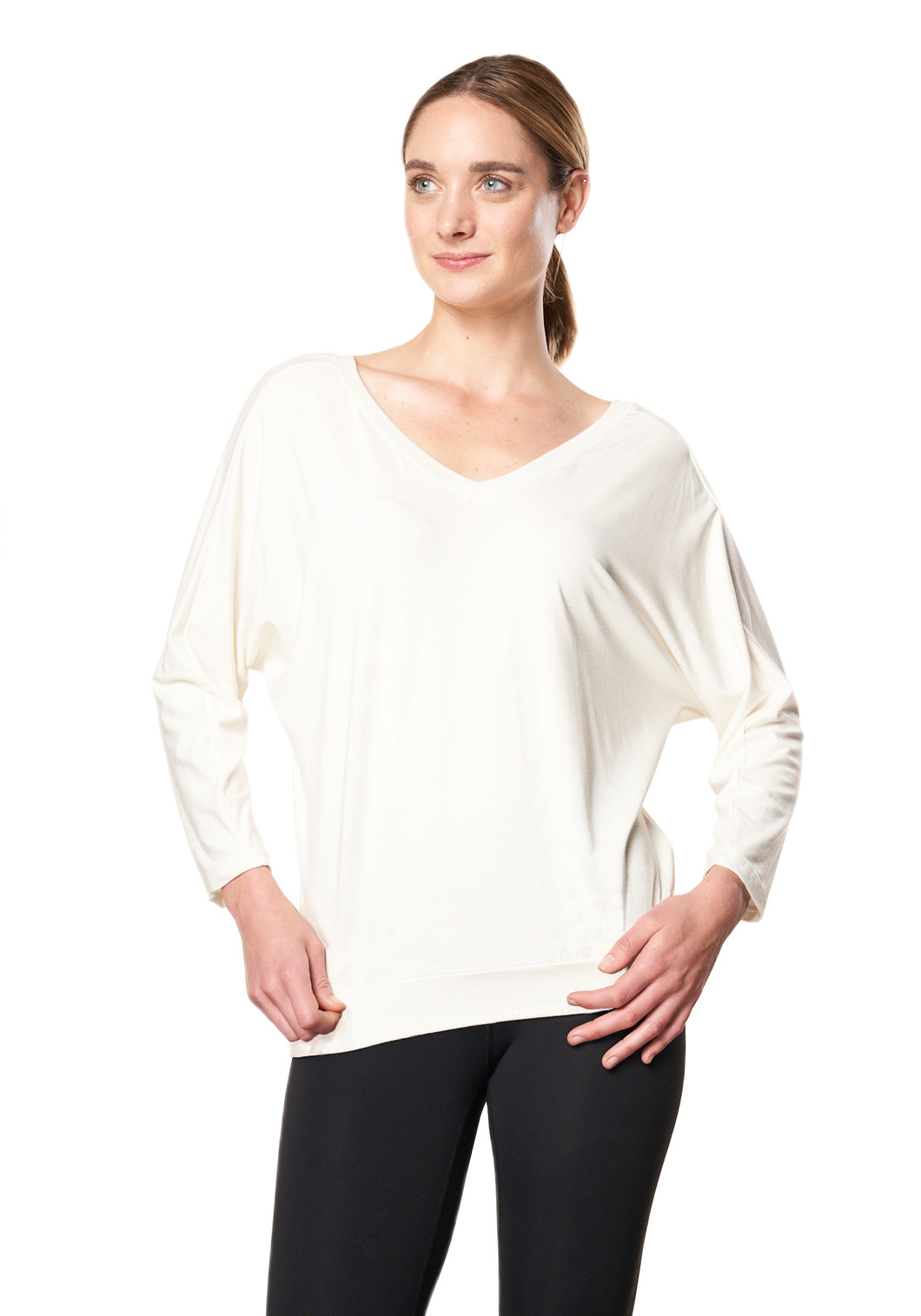 Bamboo Dolman Top - IVORY