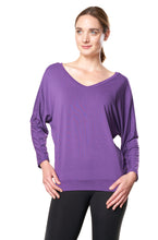 Bamboo Dolman Top - PURPLE