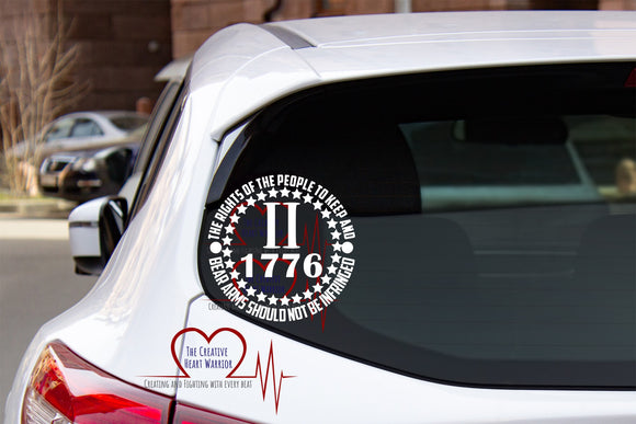 2nd Amendment Vinyl Decal Style 2 - The Creative Heart Warrior