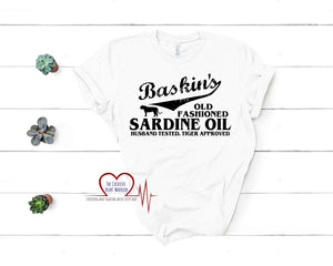 Baskin's Sardine Oil T-Shirt, Tiger King T-Shirt - The Creative Heart Warrior