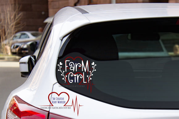 Farm Girl Vinyl Decal - The Creative Heart Warrior