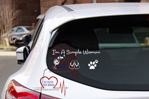 I'm a Simple Woman Vinyl Decal - The Creative Heart Warrior