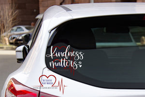 Kindness Matters Vinyl Decal - The Creative Heart Warrior