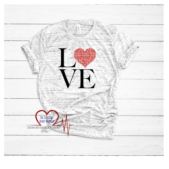 Love Cheetah Valentine's Day T-Shirt - The Creative Heart Warrior