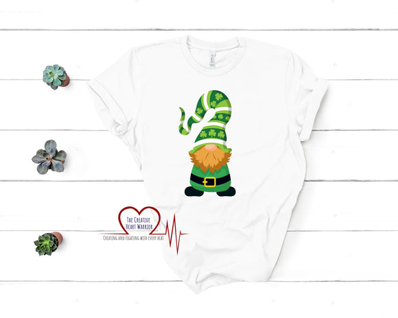 St Patrick's Day Gnome T-Shirt - The Creative Heart Warrior