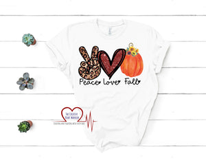Peace Love Fall T-Shirt, Peace Love Fall Adult T-Shirt - The Creative Heart Warrior