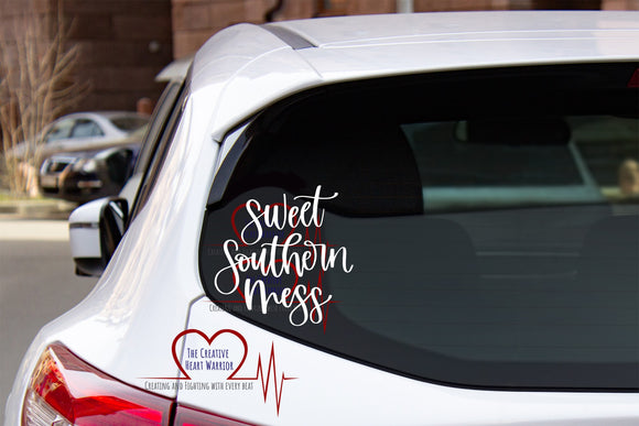 Sweet Southern Mess Vinyl Decal - The Creative Heart Warrior