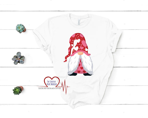 Gnome Valentine's Day T-Shirt - The Creative Heart Warrior