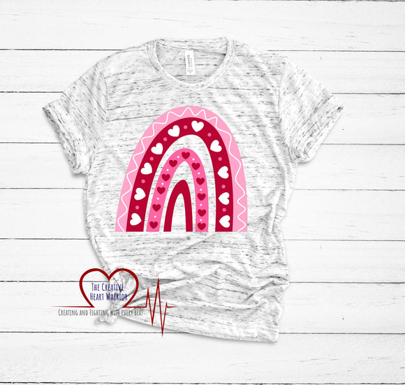 Valentine's Rainbow T-Shirt - The Creative Heart Warrior