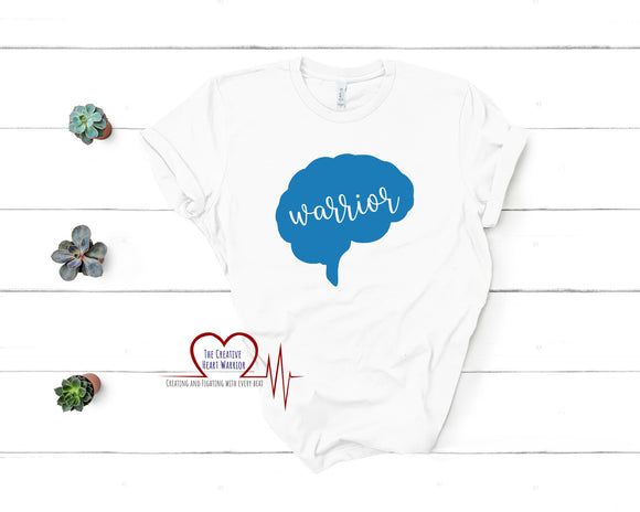 Brain Warrior Adult T-Shirt - The Creative Heart Warrior