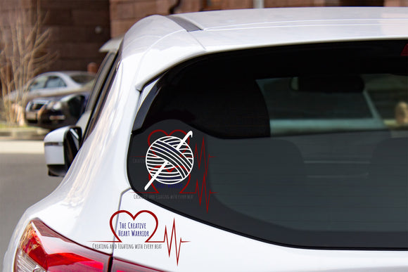 Crochet Decal - The Creative Heart Warrior