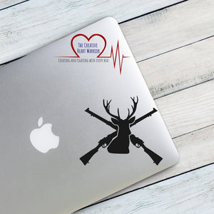 Deer Hunting Vinyl Decal - The Creative Heart Warrior