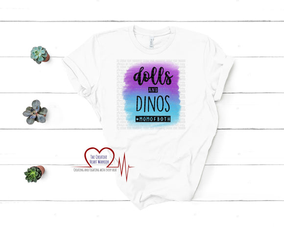 Dolls and Dinos Adult T-Shirt