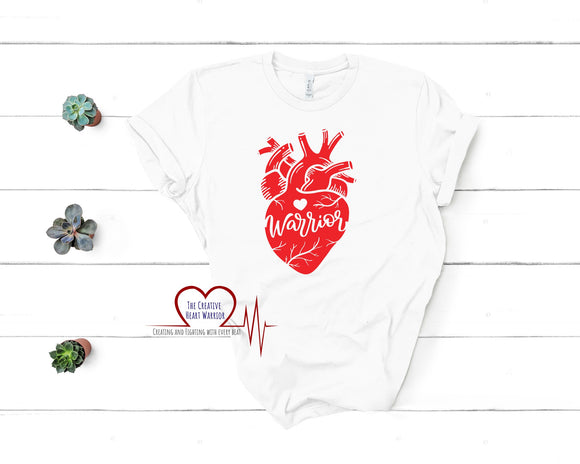 Heart Warrior Adult T-Shirt - The Creative Heart Warrior