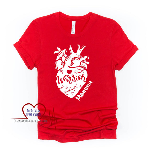 Heart Warrior Momma Adult T-Shirt - The Creative Heart Warrior