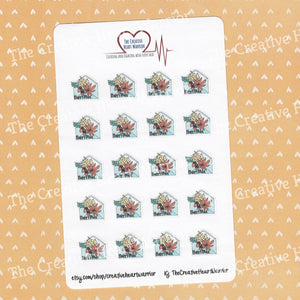 Fall Happy Mail Planner Stickers - The Creative Heart Warrior