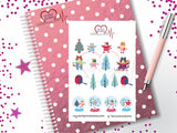 Winter Cat Planner Stickers, Christmas Cat Planner Stickers - The Creative Heart Warrior