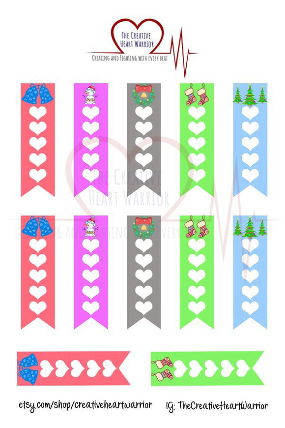 Winter Holiday Checklist Planner Stickers, Christmas Checklist Planner Stickers - The Creative Heart Warrior