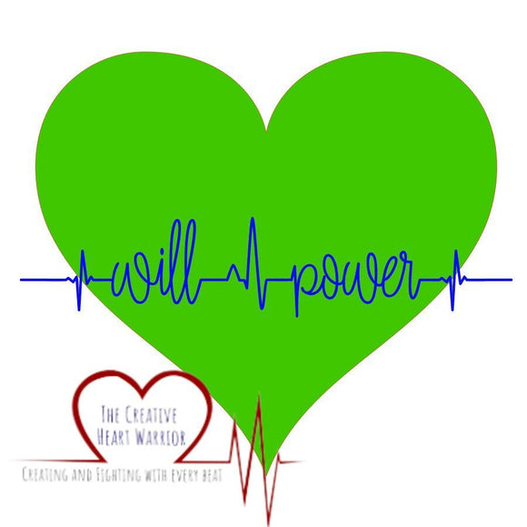 Will Power Decal - The Creative Heart Warrior