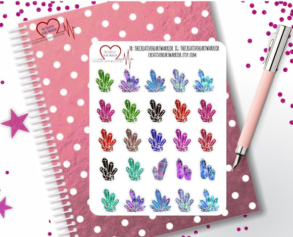 Crystal Planner Stickers - The Creative Heart Warrior