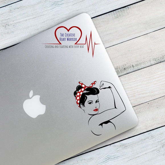 Rosie the Riveter Vinyl Decal, Girl Power Decal, We Can Do It Window Sticker - The Creative Heart Warrior