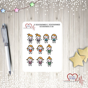 Blonde Swim Girls Planner Stickers, Blonde Summer Girls Planner Stickers, - The Creative Heart Warrior
