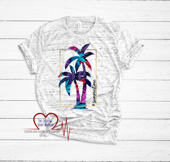 #Summertime  T-Shirt - The Creative Heart Warrior