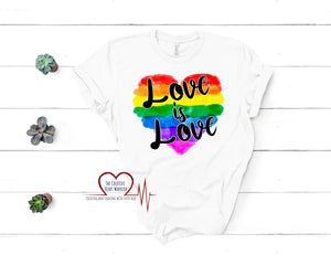 Love is Love T-Shirt - The Creative Heart Warrior