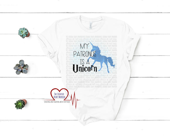 My Patronus is a Unicorn Adult T-Shirt