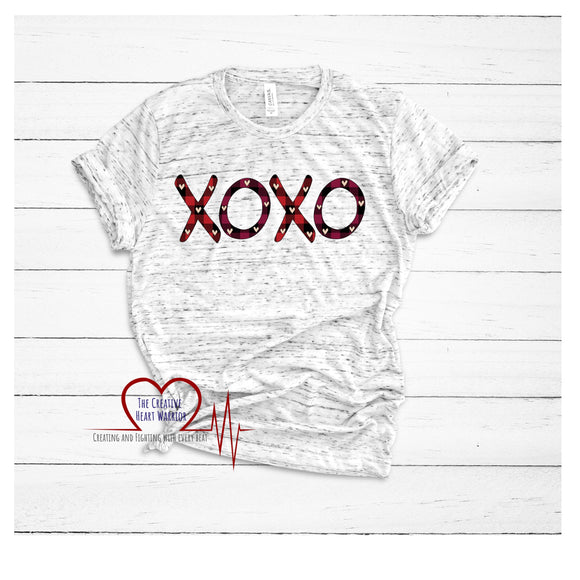 XOXO Valentine's Day T-Shirt - The Creative Heart Warrior