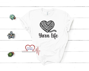 Yarn Life T-Shirt - The Creative Heart Warrior