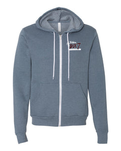 Full-Zip Hoodie - Heather Slate