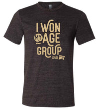 Load image into Gallery viewer, Short Sleeve T-shirt: I Won My Age Group