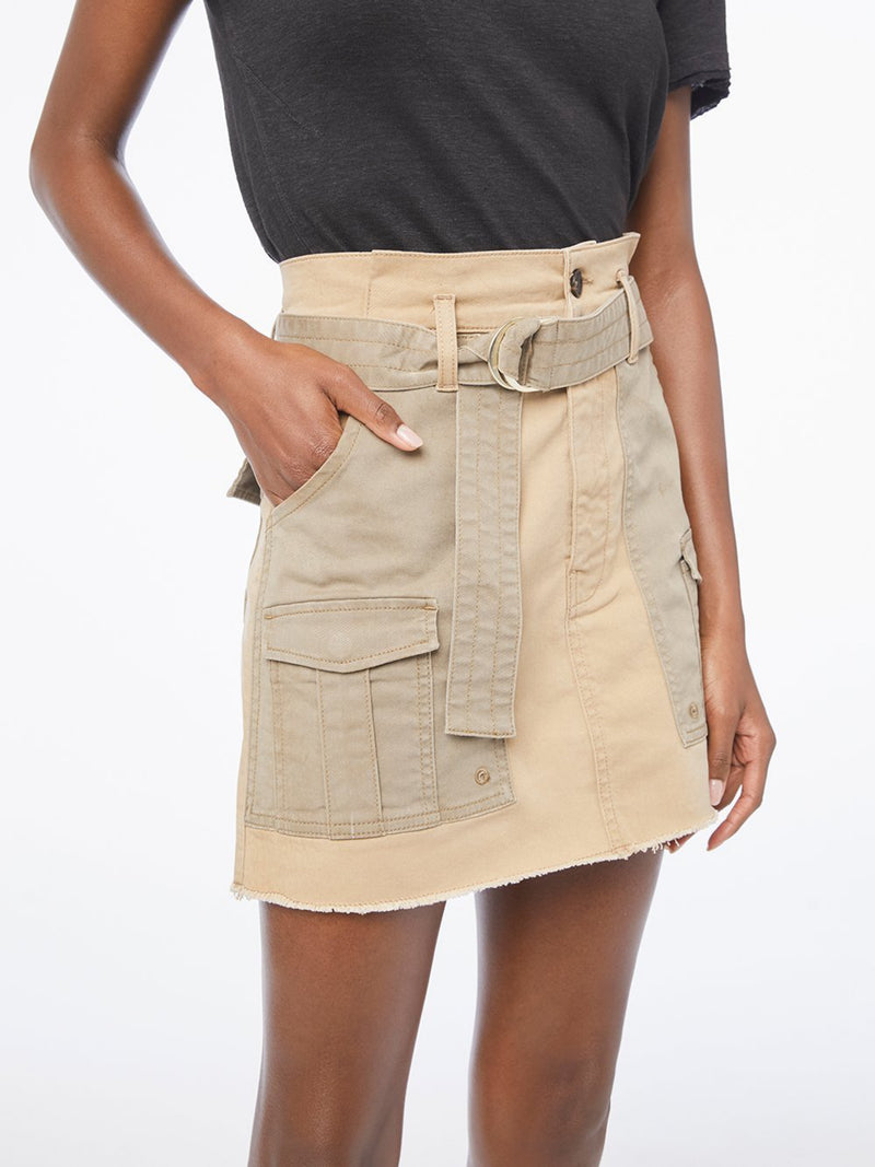 Paper bag Multi Tone Skirt