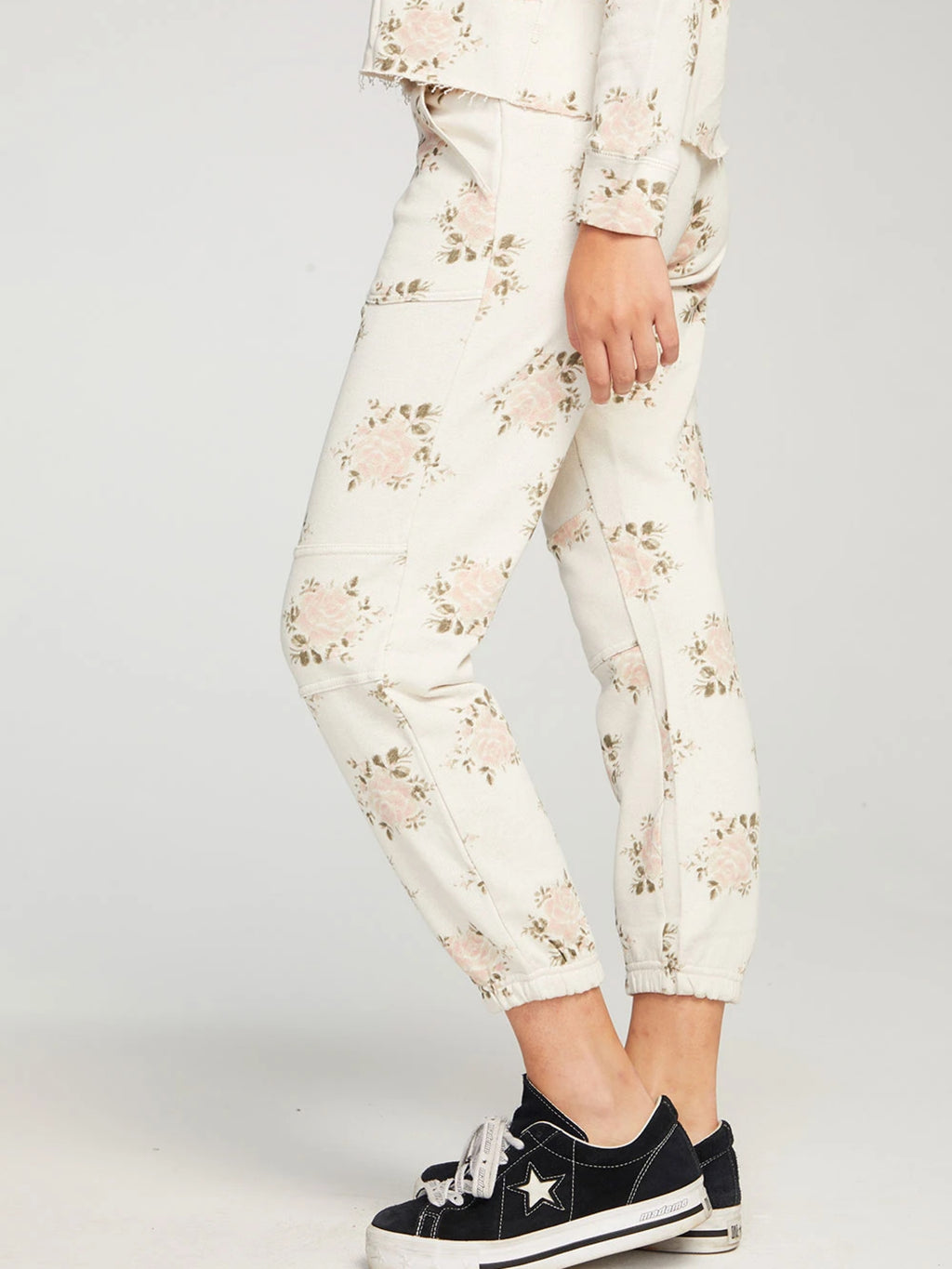 Slouchy Moto Floral Jogger