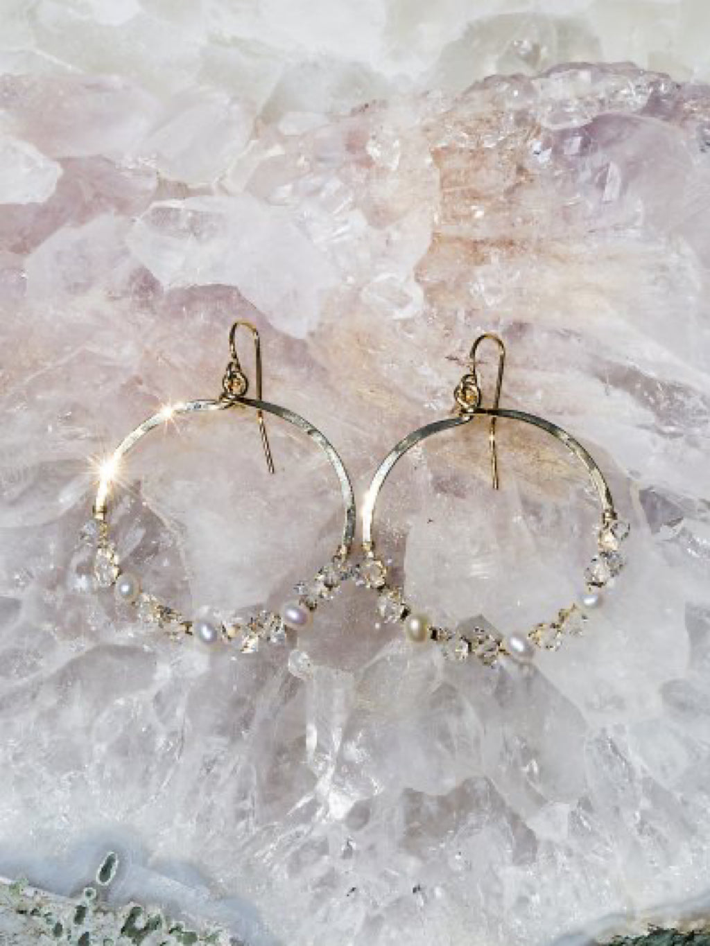 Fairsydust Crystal Circle Earrings