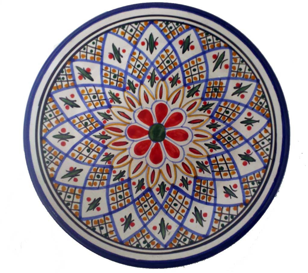 Tabarka handpainted plate from Tunisia