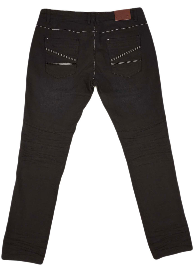 A. Tiziano Clark Raw Denim Jean (bark)