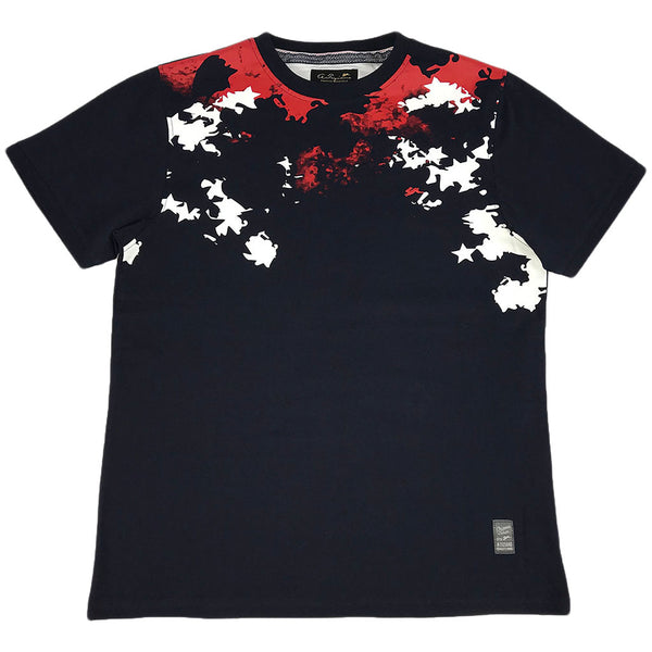 A. Tiziano Navy Nigel short sleeve