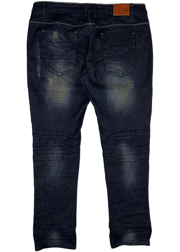 A. Tiziano Randy Raw Denim Jean (navy)