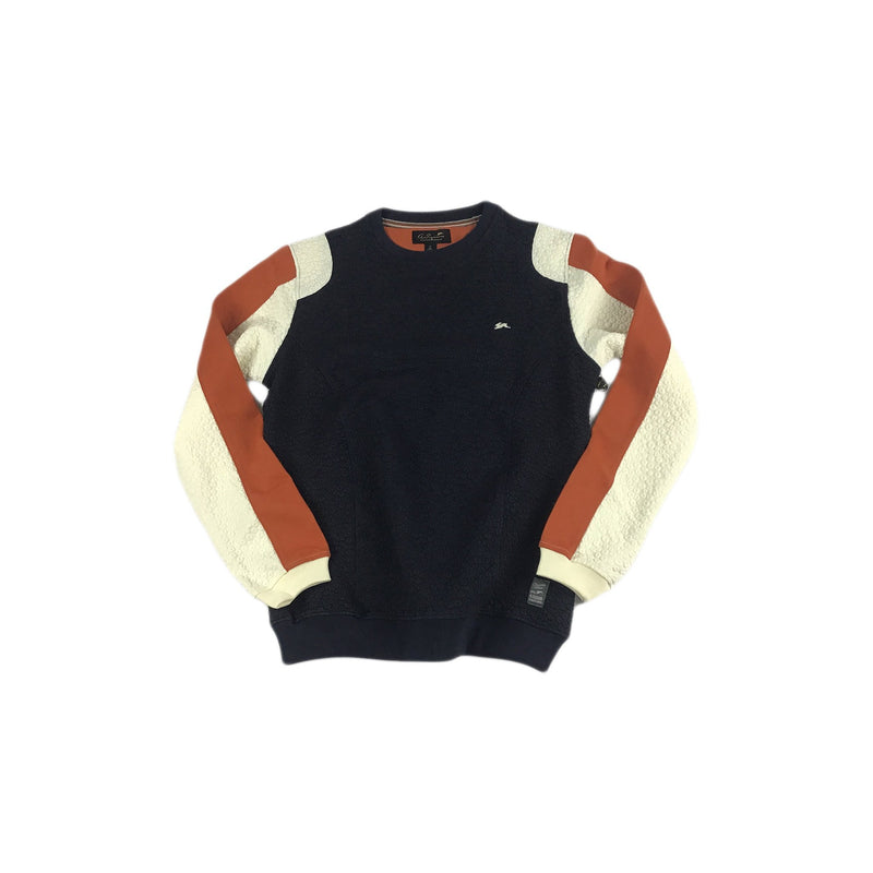 A. Tiziano Nathan Fancy Knit Crewneck (navy)