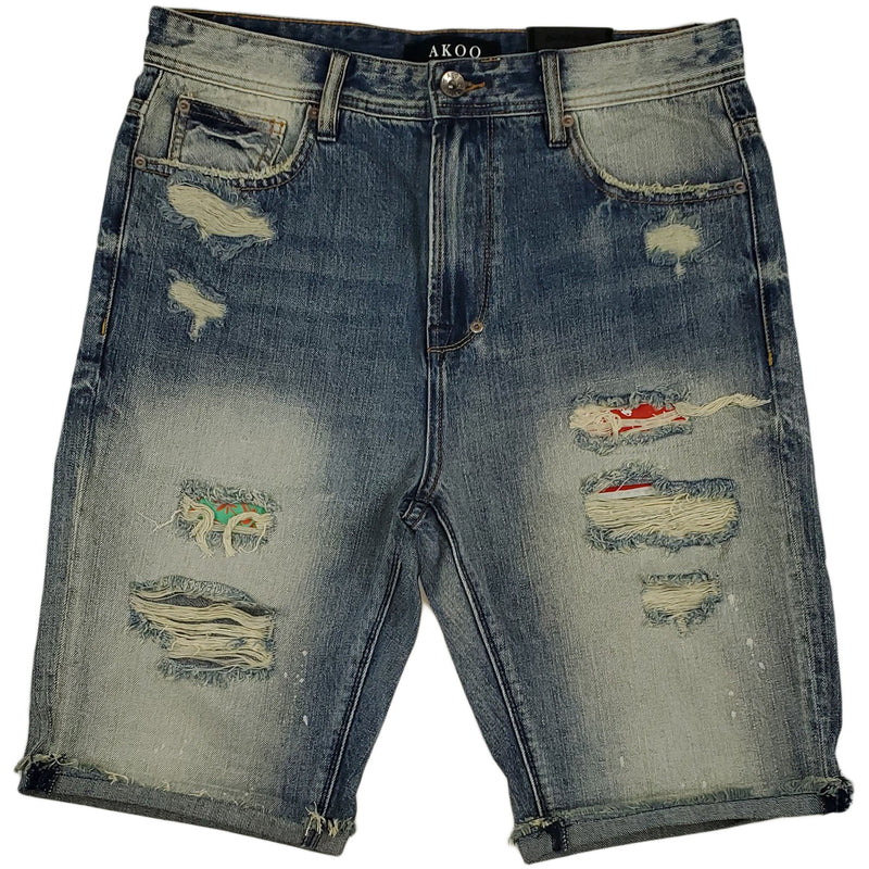 Akoo Patches Short Bora (BLUE JEAN)