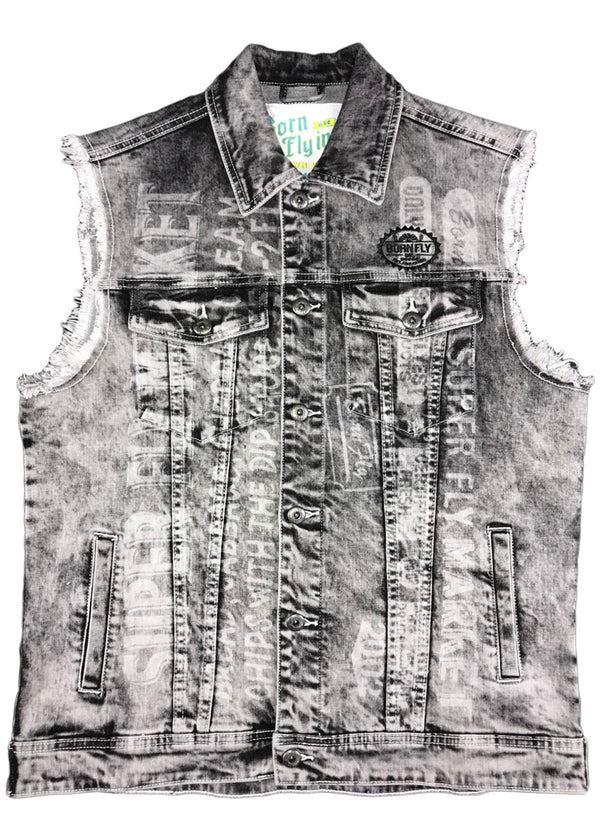 Born Fly Exchange Denim Vest